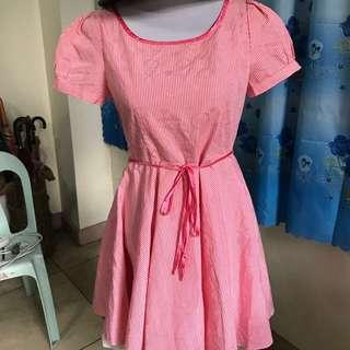 Pink plaided dress
