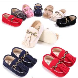 Newborn Baby Soft Sole Suede Leather Shoes