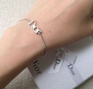AUTHENTIC DIOR Silver Tone Bracelet