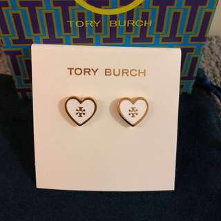 Tory Burch Logo Heart Earrings