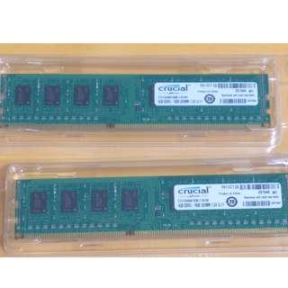 Crucial 4GB PC memory card x 2 (8GB RAM)