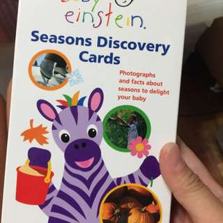 Pre-loved baby einstein seasons discovery cards