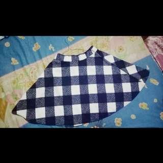 mini skirt motif kotak