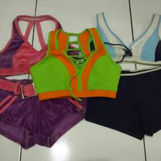 Baju senam aerobic (take all)