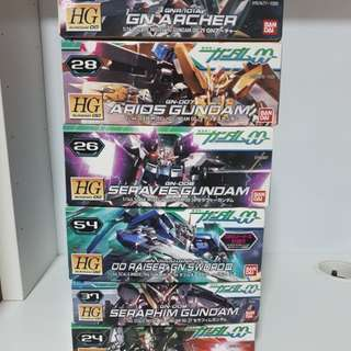 Gundam hg celestial being team complete set of 6
