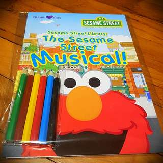 [limited] Changi Kids - Sesame Street Musical colour & activity book