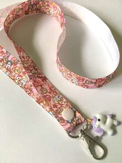 Donutella Sweet shop lanyard with charm