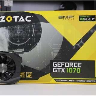 "Zotac GTX 1070 AMP ""WARRANTY-2021"""