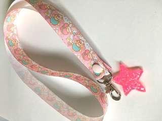 Little Twin Stars Pink lanyard