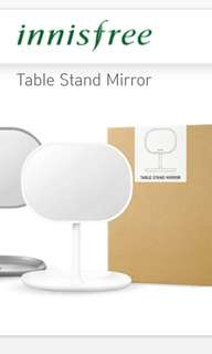 Table Stand Mirror (White)