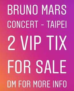 Bruno Mars 2 VIP Tickets