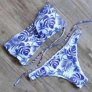 B02 藍葉Bikini Top Set