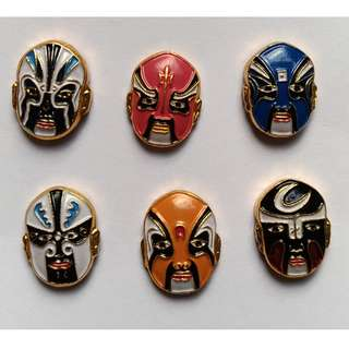 Set of Beijing Opera Mask Pins
