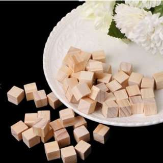 Wooden Square Blocks Mini Cubes - 20 PCS