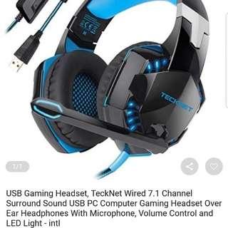 TECKNET USB GAMING HEADSET