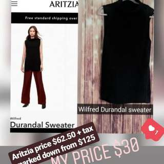 Wilfred Aritzia durandal sweater small