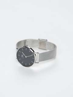 DW Daniel Wellington 32mm classic petite black silver stainless 162