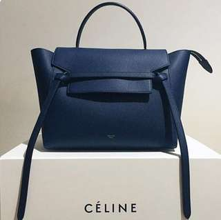 Celine belt bag micro midnight