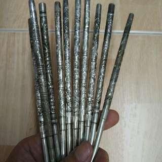 白钢筷子…一对$15  @$15 ~1 for$15. 24cm