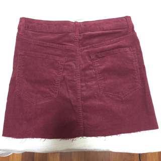 Burgundy corduroy skirt Forever 21 S/M