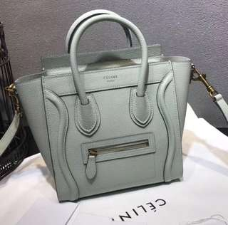 Celine luggage nano mint