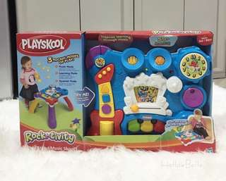 NEW The Playskool Rocktivity 2-in-1 Activity Table - Sit To Stand Music Skool