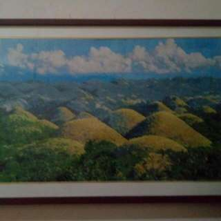 Chocolate Hills Cross Stitch With Frame