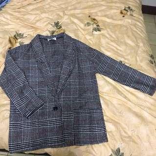 復古格子西裝薄外套