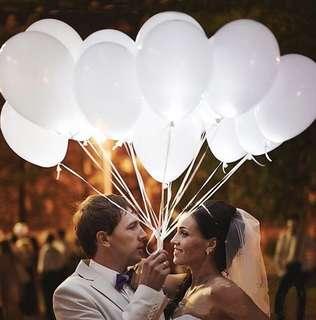 White LED Balloons