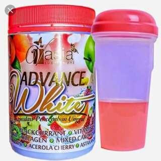 BN VAsia Supplement Advance White with Shaker Bottle