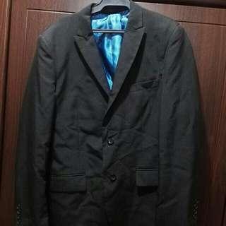 Chancellor Men's Black Coat   Americana   Slimfit