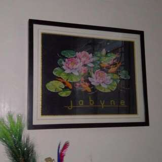 Graceful Goldfish Cross Stitch With Frame