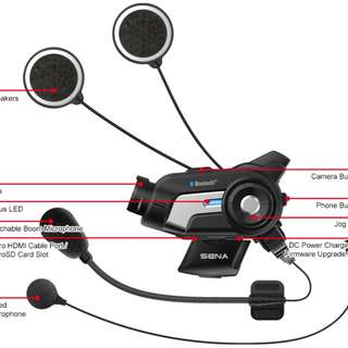 Bluetooth Intercom Camera headset  helmet
