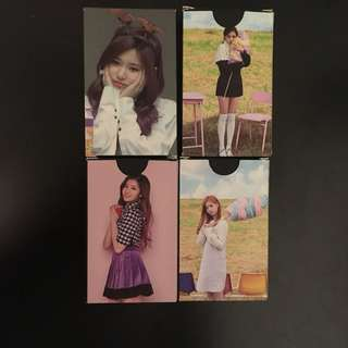 TWICE PHOTOCARDS/LOMO CARDS