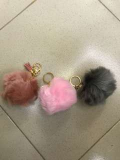 Fur ball bag keychain (buy 3 take 1)