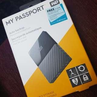 WESTERN DIGITAL MY PASSPORT 1TB HDD