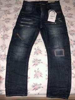 Zara Boys Jeans, Dark Wash Blue, Size 7