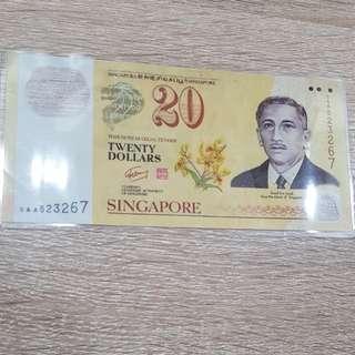 Twenty dollar $20