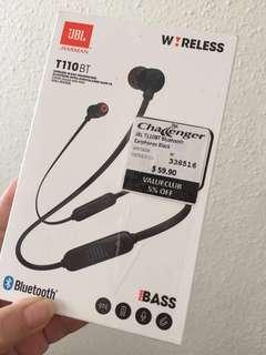 BNIB JBL T110BT Bluetooth headphone/ Earpieces