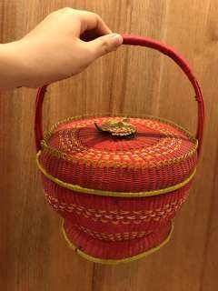 Antique nylon basket
