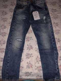 Zara Boys Jeans, Light Wash Blue, Size 6/7