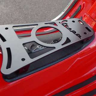 Limited edition Vespa GTS cup holder/luggage foot rack