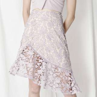 BNWT Oath Crochet Lace Skirt (lilac) size S