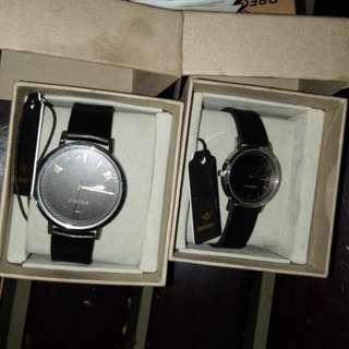 Jam tangan breegenz couple hitam