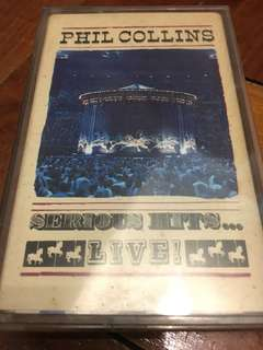 Phil Collins Serious Hits Live Cassette Tape