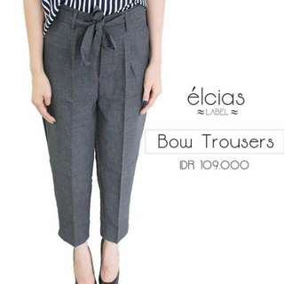 Tied office cullotes pants