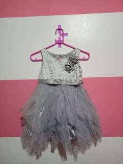 Silver baby gown