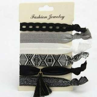 Women Elastic Ponytail Rubberband Bracelet