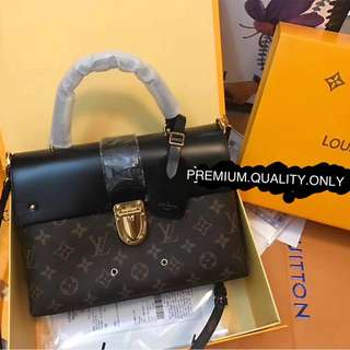 LV handle flap bag MM Monogram Louis Vuitton