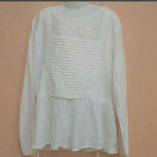 Zara kids off white Blouse